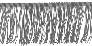 Lihtsad pikad narmad pikkusega 15 cm, värv hall, 9