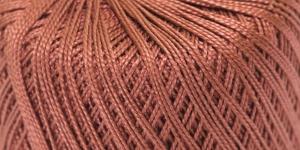 Pärlniit Perle 5 tikkimiseks ja heegeldamiseks; Värv 6602 (Punakaspruun) / Madame Tricote
