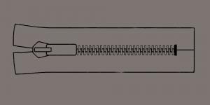 Plast hammaslukk, traktorlukk, Opti 8mm, 15cm, alt kinni, värv 9666