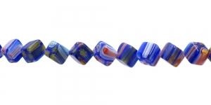 KM51 7,5mm Värvisegu sinakatest millefiori pärlitest