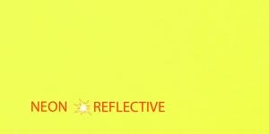 Кусок ткани самоклеящая неоновая 10см х 20см, жолтая, KL0909