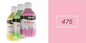 Akrüülvärv, läbipaistmatu, 250ml, Darwi Acryl Opaque, PINK 475