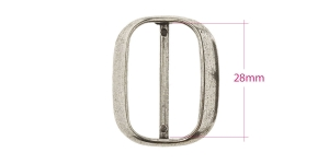 Metal triglide buckle 35x28 mm for belt width 28 mm, plating: old silver