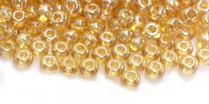Terahelmed, seemnehelmed,Nr.4 (4.8-5.3 mm), Preciosa Kuldsed, läbipaistvad, kõrgläikega HC24