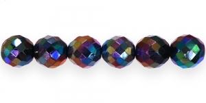 Ümar tahuline klaaspärl, Tšehhi, 16mm, Aurea Borealis, LI5