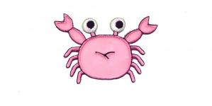 AP64, Heleroosa krabi, 8 x 5,5 cm