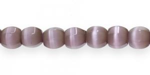 KG77 12x12mm Sinakaslillad piimjad kassisilma helmed