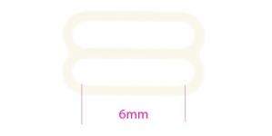 UA133, Plastic Bra Slider for 6mm strip, color: off-white