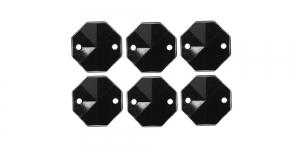 WR52 15mm Must, läbipaistmatu õmmeldav dekoraatiivkivi, 6tk