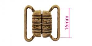 UC3, Rinnahoidja metallkinnis 16mm paelale, värv: Antiikpronks paatina