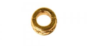 Antiikkuldne, antiikse mustriga rõngas, metallhelmes, 5 x 3mm, EN4