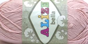 Puuvillane lõng Bella; Värv 613 (Vanaroosa) / Alize