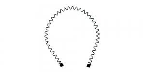 Metallist peavõru toorik must, 14 x 13 x 0,1cm, EK110A