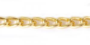 Alumiiniumkett Kuldne 19 x 12,5 x 3,4 mm, MA118