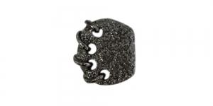 Mustjas kannaga metallnööp, 19x15mm; 30L; SFF190/10066567-19-BN