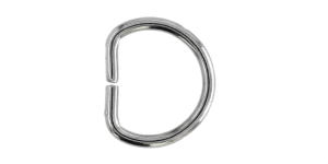 Полукольцо, D-образное кольцо, 20x17мм, SHD141