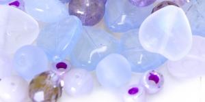 LL108A 6-16mm Helelillakate erikujuliste pärlite segu