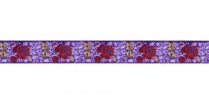 Lillekimpudega dekoratiivpael, laiusega 15 mm, värv 7B VIOLA, Art. 22109