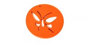 IO127 50x2mm Ümar oranž puitdetail