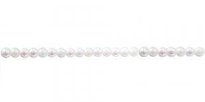 Valge AB- kattega läbipaistmatu ümar plasthelmes, 3mm, BP16A