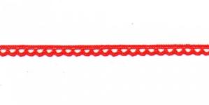 Puuvillane pits 3174-07 laiusega 0,8 cm, värv punane