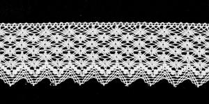 Puuvillane servapits laiusega 5,5cm Art.1616-01, värv valge