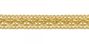 Metallikniidist pits 3037-28 laiusega 2 cm, värv kuldne
