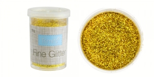 Glitter Powder Micro Fine Glitter, 15g, golden, Trimits UF15