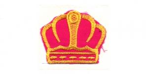 Tumeroosa kollasega kuninga kroon, 6 x 5 cm, AT18