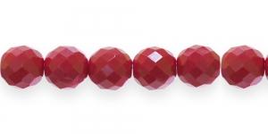 Ümar tahuline klaaspärl, Tšehhi, 14mm, Tumepunane läbipaistmatu, LO125