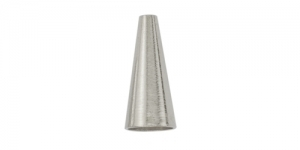 Silver Plated Bead Cone, 14 x 6mm, 357B-011