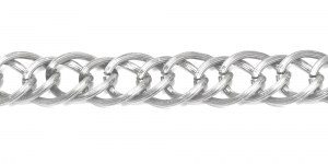 Alumiiniumkett Hõbedane 17 x 14 x 2,5 mm, MA63
