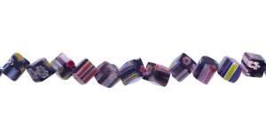 KM53 6mm Värvisegu tumelillakatest millefiori pärlitest 20tk