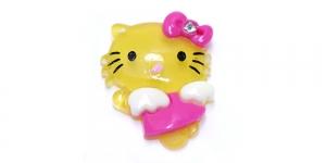 Kollane Hello Kitty riputis / 35 x 25mm / AE93