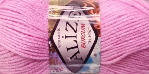Akrüüllõng Burcum Klasik firmalt Alize, värv 116 lillakas heleroosa