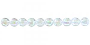 BP34 6mm Värvitu AB-kattega läbipaistev akrüülhelmes
