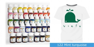 Fabric Paint Vielo, 50 ml #122 Mint turquoise