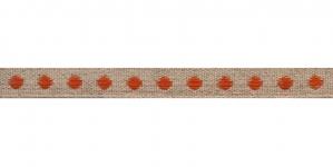 Puuvillane linalaadne kaunistuspael oranži täpimustriga, S001-6D