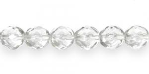 LO206 Ümar tahuline klaaspärl, Tšehhi, 12mm, Värvitu läbipaistev kõrgläikega