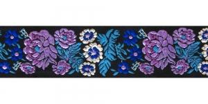 Mustal taustal lillemustriga kaunistuspael 35 mm, Art. 35097FC, värv V4