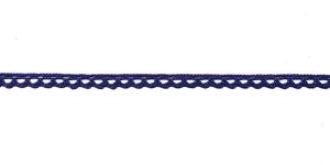 Puuvillane pits 3840-10 laiusega 1 cm, värv tumesinine