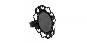 Sõrmusetoorik Must / 19 x 15mm / EA31