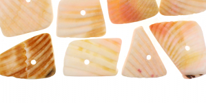 JF15 / Hele virsikuroosades toonides teokarbist helmed / Dyed Natural Shell Beads; Light Peach Pink / 9-20mm