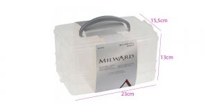 Virnastatav plastikust tarvikute kohver 23 x 15,5 x 13 cm, Milward 2519016