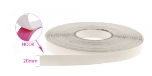 Sew on hook tape 20 mm, white