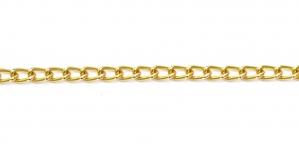 Kuldne Alumiiniumkett, 8,5 x 5 x 1,3 mm, MA35