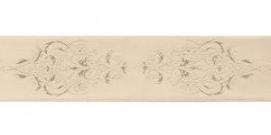 Luksuslik atlaspael sissekootud lillemustriga laiusega 38mm, Art.38969, beež