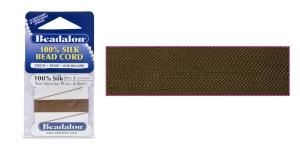 100% siidist niit, ø0,45 mm, 2 m, pruun, Beadalon 102R-100