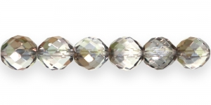 Ümar tahuline klaaspärl, Tšehhi, 14mm, Helehall kuldse läikega, LH5
