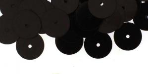 YB31 / Lamedad kettakujulised plastlitrid , mustad / ø10mm
